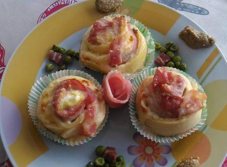 Roselline morbide con patè di olive verdi e piselli!!!