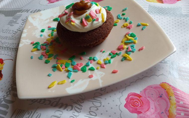 Muffin al cioccolato con crema al mou!!!