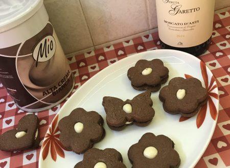 Occhi di bue al cacao e cioccolato bianco!!!